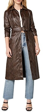 Cupcakes And Cashmere Julian Faux Snake Skin Trench Coat