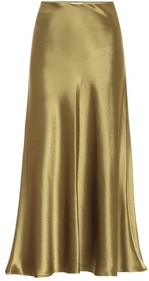 Galvan Valletta satin midi skirt