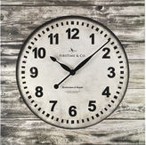 Asstd National Brand FirsTime Weathered Square Wall Clock