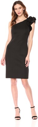 Eliza J Women's One Shoulder Flower Detail Dress