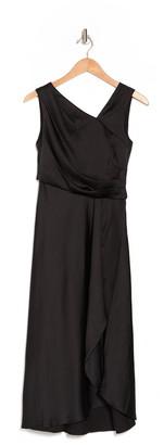 Taylor Solid Satin Midi Dress
