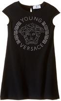 Versace Kids Cap Sleeve Dress with Large Medusa Logo (Big Kids)
