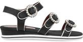 Marc by Marc Jacobs Charlotte Crystal-Embellished Satin Sandals