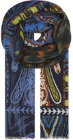 Etro Paisley Aztec Cashmere-silk Scarf