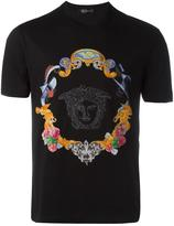 Versace Medusa sketch embroidered T-shirt - men - Cotton - XXL