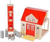 Baby Essentials TIDLO Wooden Fire Station Set
