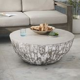 Sculpted Concrete Drum Coffee Table
