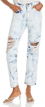Ramy Brook Elle Distressed Acid-Wash Boyfriend Jeans