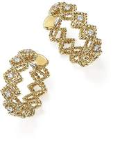 Roberto Coin 18K Yellow Gold New Barocco Diamond Hoop Earrings
