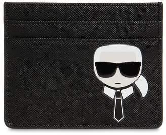 Karl Lagerfeld Paris K/IKONIC FAUX LEATHER CARD HOLDER