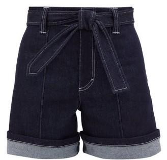 Chloé High-rise Belted Denim Shorts - Womens - Denim