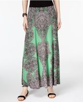 INC International Concepts Printed Maxi Skirt, Only at Macy's