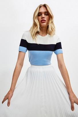 Karen Millen Colour Block Knitted Top
