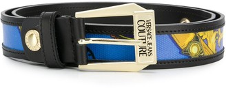 Versace Jeans Couture Barocco Print Belt