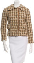 Dolce & Gabbana Houndstooth Fitted Jacket