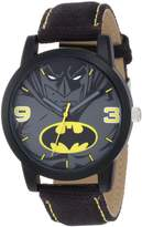 Batman Kids' BAT9040 Black Canvas Strap Watch