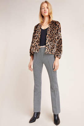 Anthropologie Essentials By Essential Houndstooth Bootcut Trousers