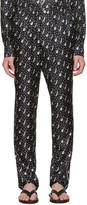 Dolce & Gabbana Black Silk Music Pajama Trousers