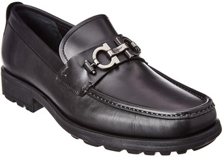 Salvatore Ferragamo David Gancini Bit Leather Loafer