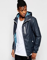 Pull&bear Lightweight Jacket With Hood In Navy