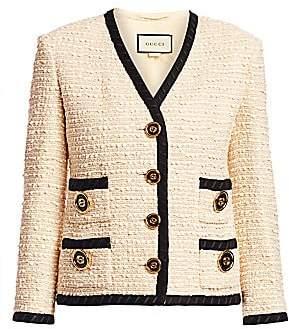 Gucci Women's Bouclé Tweed Boxy Jacket