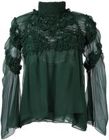 Chloé embroidered chiffon blouse