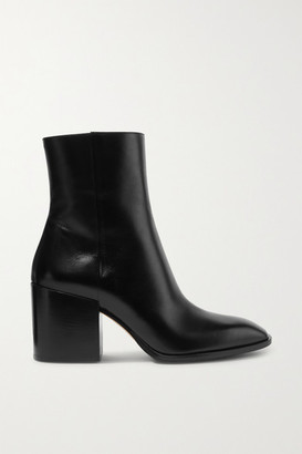 AEYDĒ Leandra Leather Ankle Boots