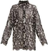 Ashish Star and moon sequin-embellished cotton-mesh shirt