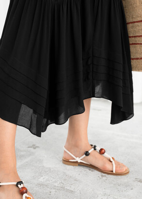 And other stories Pleated Ruffle Maxi Dress
