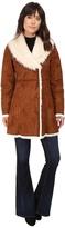 Andrew Marc Sarah Faux Suede/Fur Coat