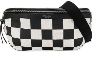 Saint Laurent Checks Print Belt Bag
