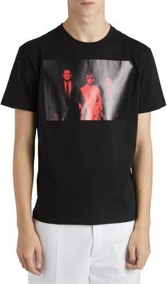 Raf Simons Twin Peaks Printed Cotton Jersey T-Shirt