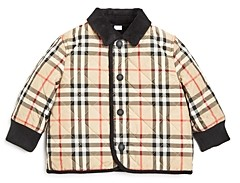 Burberry Boys' Culford Quilted Vintage Check Jacket - Baby