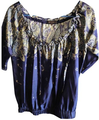 Adolfo Dominguez Purple Silk Top for Women