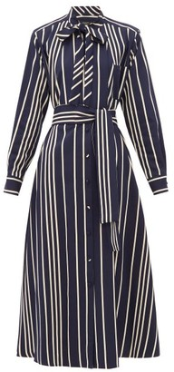 Max Mara Party Shirt Dress - Womens - Navy Multi