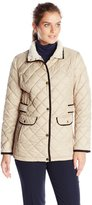 Nautica Women's Diamond Quilted Barn Jacket