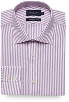 Osborne Big And Tall Lilac Striped Print Tailored Fit Shirt