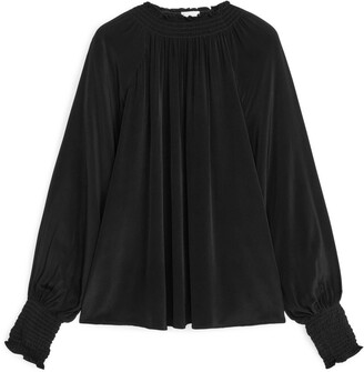 Arket Shirred Neck Blouse