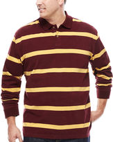 THE FOUNDRY SUPPLY CO. The Foundry Big & Tall Supply Co. Long-Sleeve Suede Polo