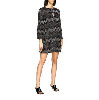 M Missoni Short Dress In Lurex Jacquard