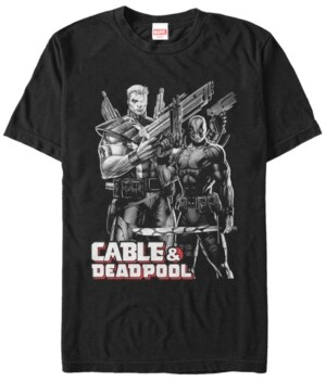 Marvel Men's Comic Collection Cable Deadpool Short Sleeve T-Shirt