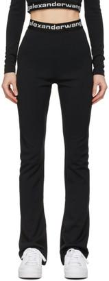 alexanderwang.t Black Flared Logo Elastic Lounge Pants