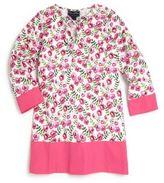 Oscar de la Renta Toddler's & Girl's Spring Pansies Cotton Caftan