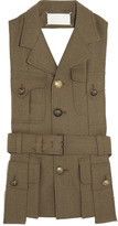 Maison Margiela Cutout Wool-gabardine Vest - Army green