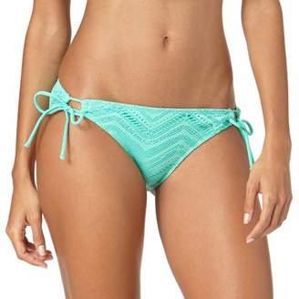 Op Juniors Crochet Looped Side Tie Swimsuit Bottom