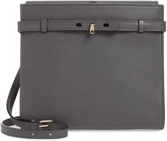 Valextra Medium B-Tracollina Leather Shoulder Bag/Clutch