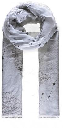 Intrigue Grey star print scarf