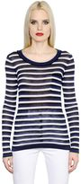 Sonia Rykiel Striped Silk & Cotton Jersey T-Shirt