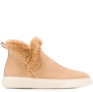 Hogan Faux Fur Trim Boots