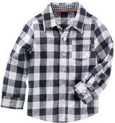 Osh Kosh Double Gingham Button-Front Shirt